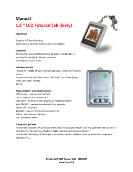 "Manuál 1.5 "" LCD Fotorámček (biely)"