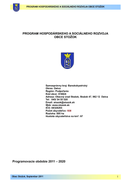PHSR - Stožok