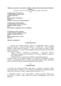 Dohoda o prevode práv a povinností