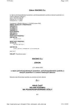 zákon č. 504/2003 Z. z. o nájme poľnohospodárskych pozemkov