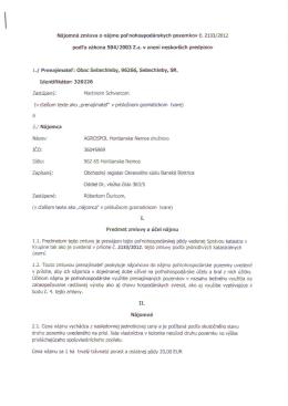 AGROSPOL Hontianske Nemce - Evidencia obce Sebechleby