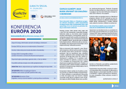 Špeciálny report Konferencia Európa 2020