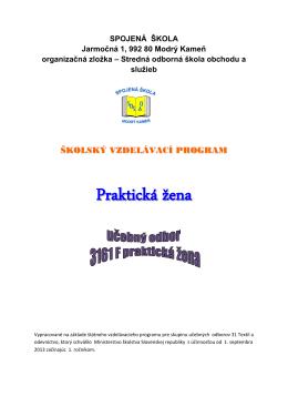 3161 F praktická žena - Spojená škola Modrý Kameň
