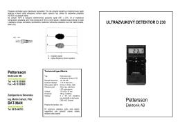 Manuál na používanie detektora - BAT-MAN