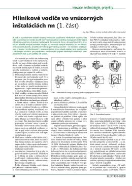 Hliníkové vodiče vo vnútorných inštaláciách nn (1. část)