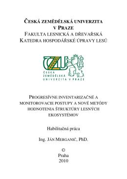Habilitačná práca © Praha 2010