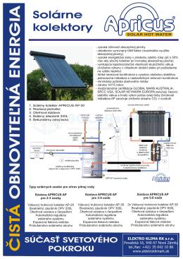 Predstavenie slnečných kolektorov