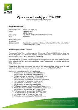 Dokument na stiahnutie. - SKYSIDE private equity