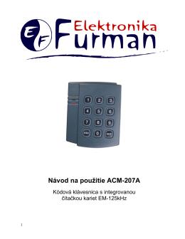Návod na použitie ACM-207A