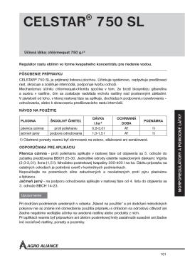 CELSTAR 750 SL - Agro Aliance sro