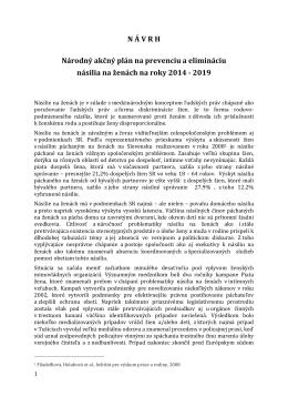 Navrh_NAP pre nasilie na zenach 2014-2019