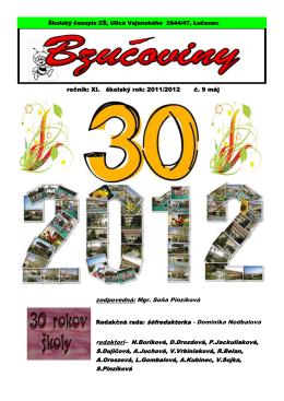 Máj 2012 - Základná škola, Vajanského 2844/47, Lučenec