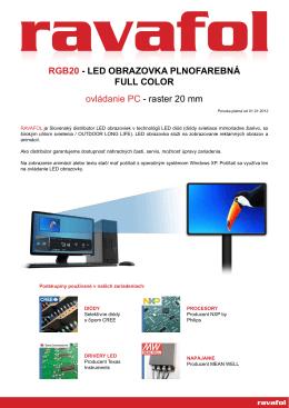 RGB20 - LED OBRAZOVKA PLNOFAREBNÁ FULL