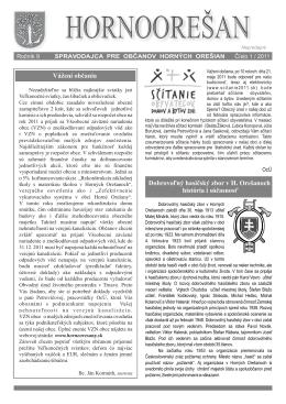 Hornoorešan - číslo 1/2011