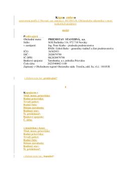 Stiahnite si vzor zmluvy vo formáte pdf. - tecko