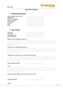 Reklamačný protokol