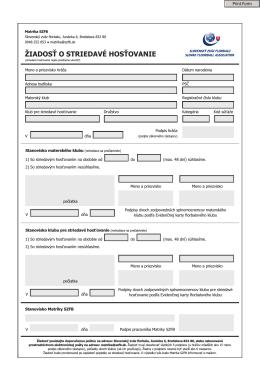 Žiadosť o striedavé hosťovanie (pdf)