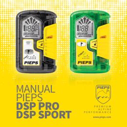 MANUAL PIEPS DSP Pro DSP SPorT