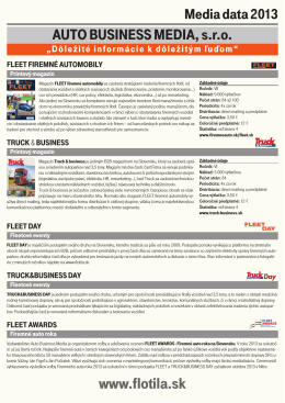 DAY 2013 - FLEET firemné automobily