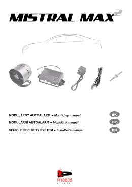 MODULÁRNY AUTOALARM Montážny manuál MODULÁRNÍ