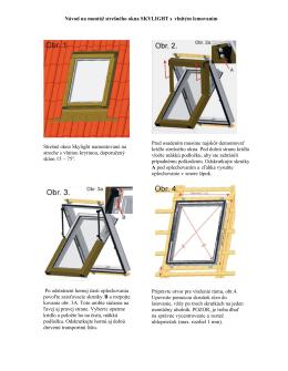 Návod na montáž strešného okna SKYLIGHT s vlnitým