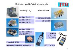 Detektory spaliteľných plynov a pár