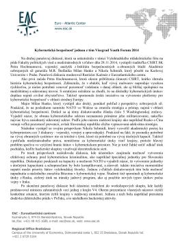 Kybernetická bezpečnosť jednou z tém Visegrad