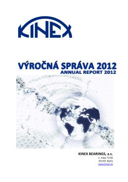 Výročná správa za rok 2012 v slovenskom jazyku