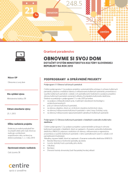 obnovme s obnovme si svoj dom si svoj dom si svoj dom