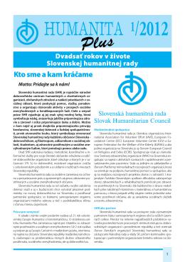Kto sme a kam kráčame - Slovenská humanitná rada