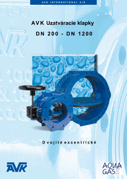 AVK Uzatváracie klapky DN 200 - DN 1200