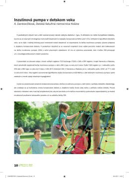 Inzulínová pumpa v detskom veku MUDr. Adriana - accu-chek