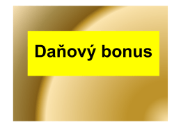 danovy bonus 2012