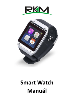 Smart Watch Manuál