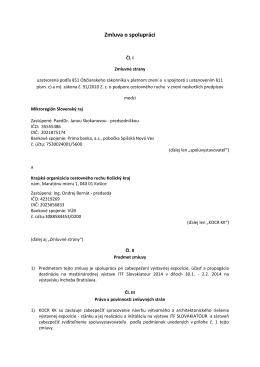 Zmluva o spolupráci – expozícia ITF Slovakiatour 2014