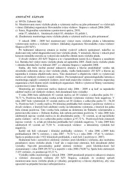 ANOTAČNÝ ZÁZNAM a) MVDr. Ľubomír Jaký b