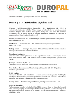 individuálna tlač HPL