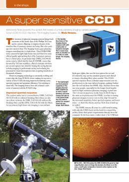 A Super Sensitive CCD - Imaging Source Astronomy Cameras