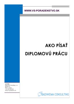 ako-pisat-diplomovu-pracu - Diplomovky