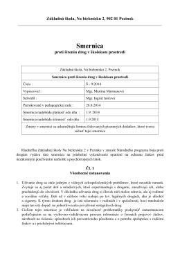 Smernica Š - 9/2014