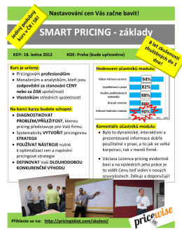 SMART PRICING - základy