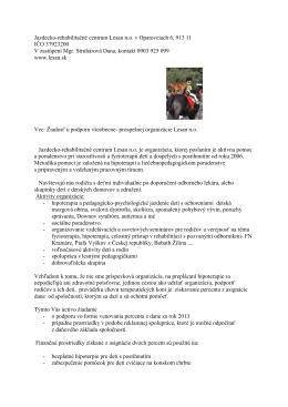 Jazdecko-rehabilitačné centrum Lesan n.o. v Opatovciach