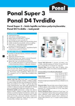 Technický list Ponal Super 3
