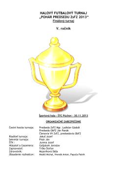 Halový futbalový turnaj Pohár predsedu ZsFZ, finále 2013