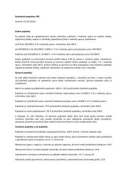 Sadzobník poplatkov SRS (znenie k 01.02.2012) Súdne poplatky Sú