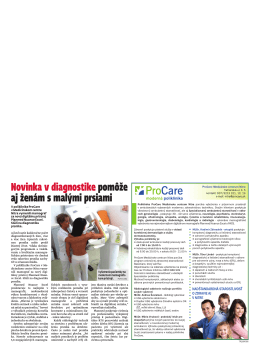 Novinka v diagnostike pomôže aj ženám s malými