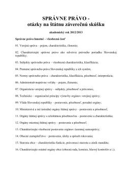 Správne právo - AR 2014/2015