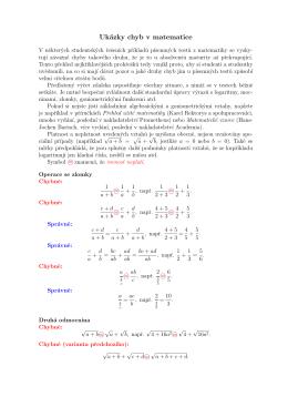 Ukázky chyb v matematice