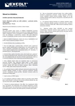 REACT 1100 W01 Navod na instalaciu