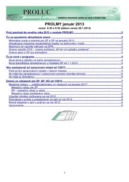 Popis noviniek TU .......(dokument PROLMY2013_01)